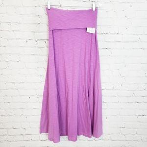 Lularoe NWT Heathered Purple Maxi Skirt size XS